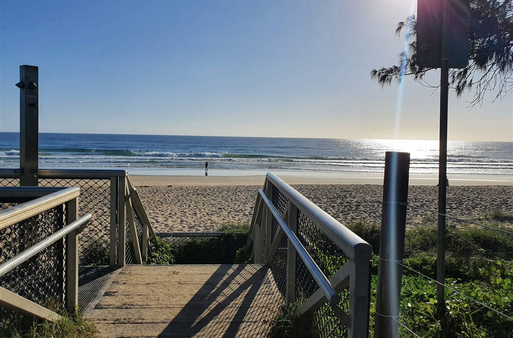 Beach Entrance to Alexandra Headland Beach