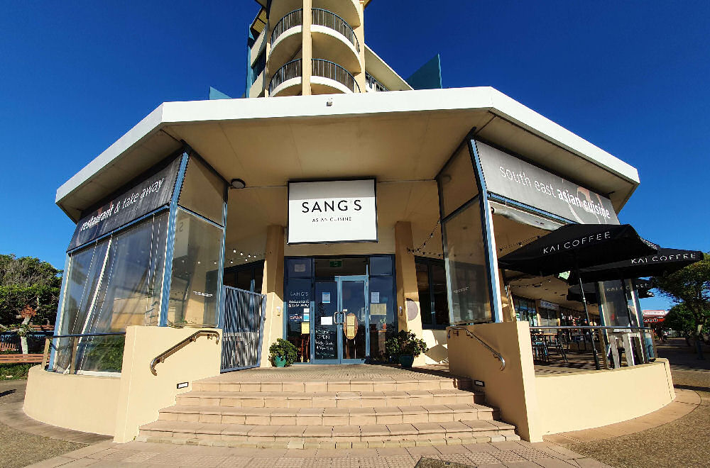 The front of Sang's Asian Cuisine located at Alexandra Headland